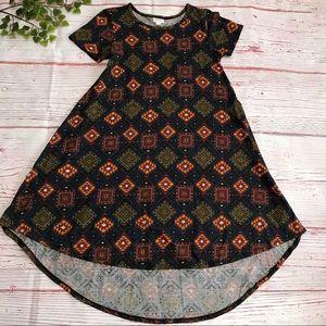 LulaRoe CARLY Southwest Aztec Tunic Top Dress